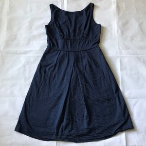 J crew textured navy blue midi dress sz 4